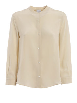ASPESI: shirts - Mandarin collar silk shirt