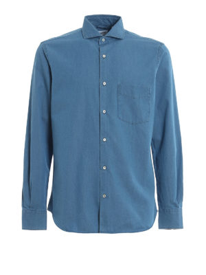 ASPESI: shirts - Pocket detail denim shirt