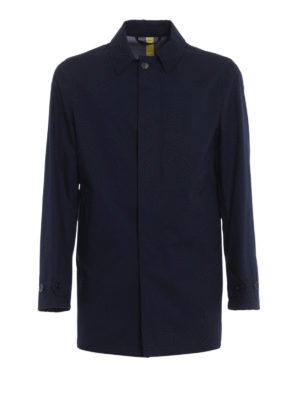 Aspesi: short coats - Alfie Summer blue raincoat