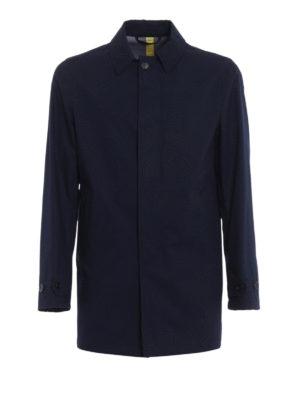 Aspesi: short coats - Alfie Summer blue raincoat
