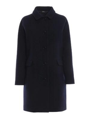 ASPESI: cappotti corti - Cappotto mono petto a uovo in lana cotta
