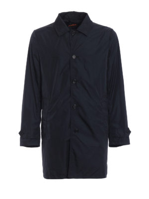 Aspesi: short coats - Limone blue raincoat