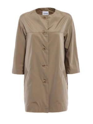 Aspesi: short coats - Malaga techno taffeta raincoat