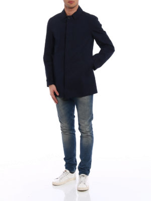 Aspesi: short coats online - Alfie Summer blue raincoat