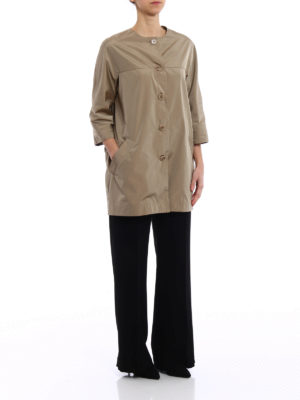 Aspesi: short coats online - Malaga techno taffeta raincoat