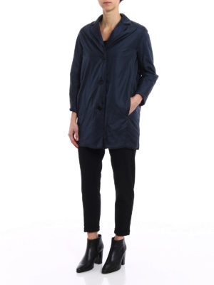 Aspesi: short coats online - Pan di Spagna dark blue raincoat