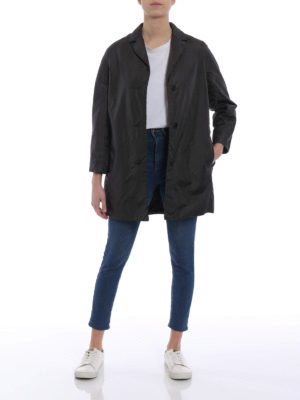 Aspesi: short coats online - Pan di Spagna dark grey raincoat