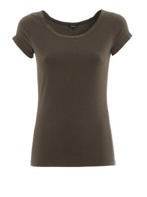 5f33ee76dff ... linen short pants.   234.00. ASPESI  t-shirt - T-shirt in cotone  stretch verde militare