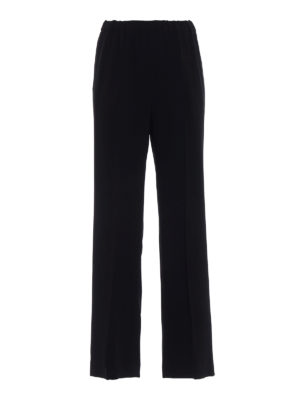 Aspesi: Tailored & Formal trousers - Comfortable crepe black trousers