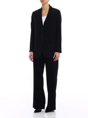 Aspesi: Tailored & Formal trousers online - Comfortable crepe black trousers