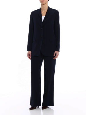 Aspesi: Tailored & Formal trousers online - Comfortable crepe blue trousers
