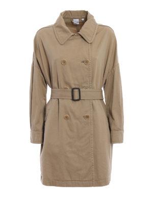 Aspesi: trench coats - Cotton gabardine trench
