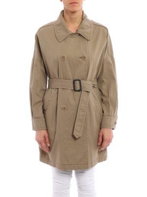 Aspesi: trench coats online - Cotton gabardine trench