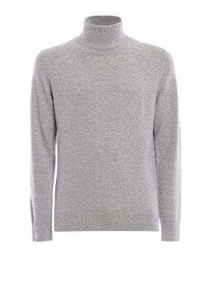 ASPESI: maglia a collo alto e polo - Dolcevita in misto yack e cashmere grigio