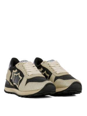 ATLANTIC STARS: sneakers online - Sneaker Alhena in pelle color oro e nera