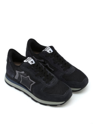 ATLANTIC STARS: sneakers online - Sneaker Antares nere in tessuto e camoscio