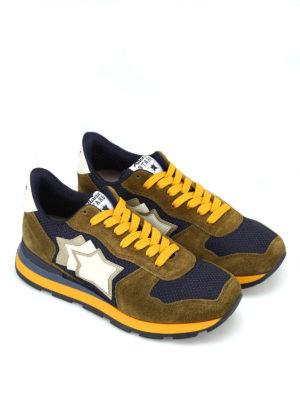 ATLANTIC STARS: sneakers online - Sneaker Antares verdi tessuti multipli