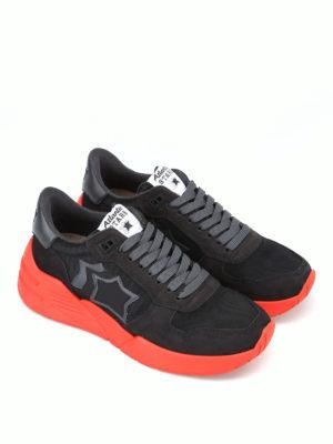 ATLANTIC STARS: sneakers online - Sneaker Mars nere con suola in gomma rossa