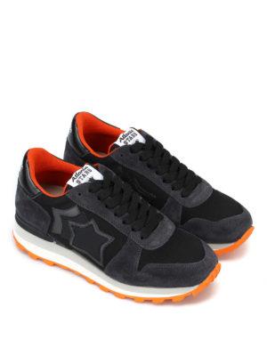 ATLANTIC STARS: sneakers online - Sneaker Sirius in camoscio nero e arancio