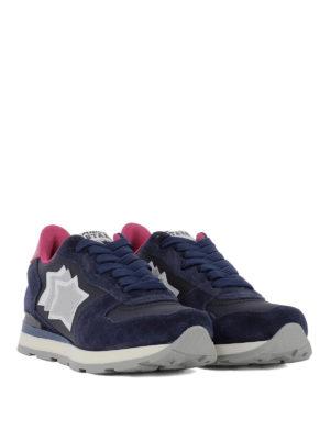 ATLANTIC STARS: sneakers online - Sneaker Vega in pelle blu scura e fucsia