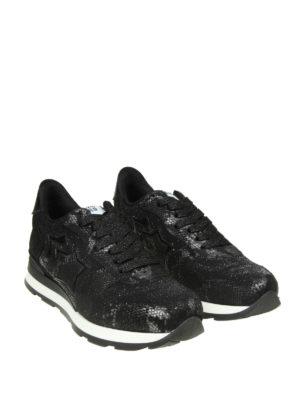 ATLANTIC STARS: sneakers online - Sneaker Vega in pelle e tessuto effetto lurex