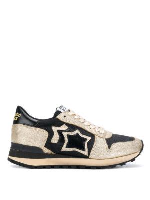 ATLANTIC STARS: sneakers - Sneaker Alhena in pelle color oro e nera