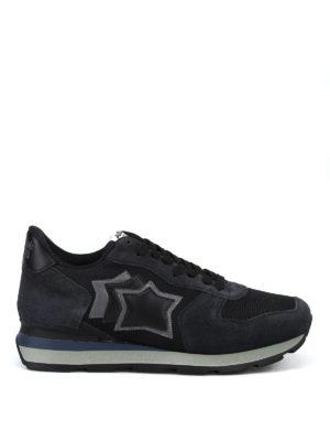 ATLANTIC STARS: sneakers - Sneaker Antares nere in tessuto e camoscio