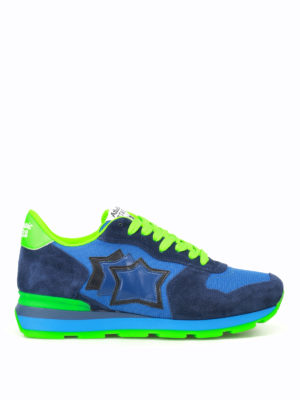 Atlantic Stars: trainers - Antares blue and fluo sneakers