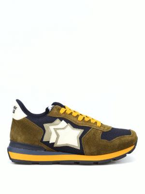 ATLANTIC STARS: sneakers - Sneaker Antares verdi tessuti multipli