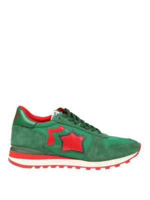 Atlantic Stars: trainers - Argo green suede sneakers