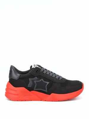 ATLANTIC STARS: sneakers - Sneaker Mars nere con suola in gomma rossa