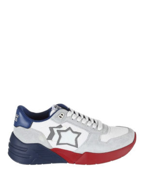 ATLANTIC STARS: sneakers - Sneaker Mars bianche rosse e blu