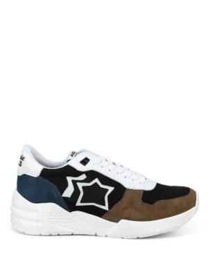 ATLANTIC STARS: sneakers - Sneaker Mars in tessuto tecnico e nabuk