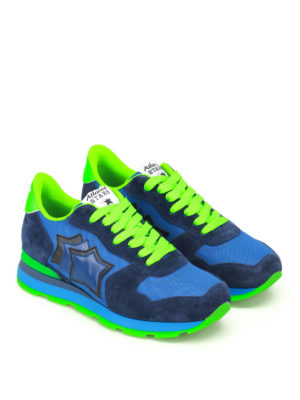 Atlantic Stars: trainers online - Antares blue and fluo sneakers