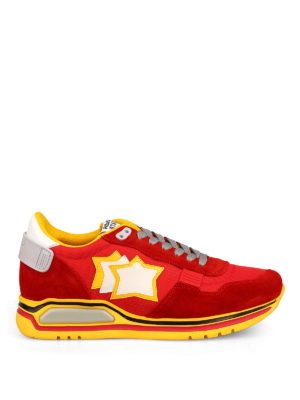 ATLANTIC STARS: trainers - Red and yellow Pegasus sneakers