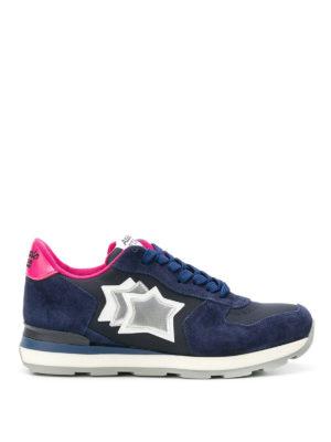 ATLANTIC STARS: sneakers - Sneaker Vega in pelle blu scura e fucsia