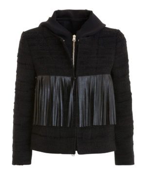 Atos Lombardini: casual jackets - Fringe detailed tweed jacket