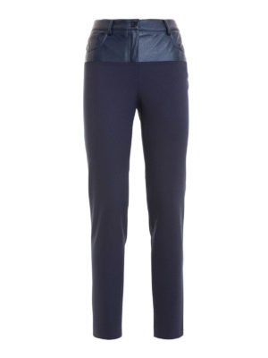 Atos Lombardini: casual trousers - Faux leather detail 5 pocket pants