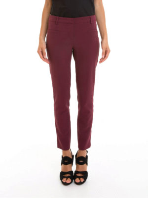 Atos Lombardini: casual trousers online - Low rise tapered trousers