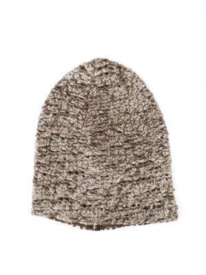 Avant Toi: beanies - Bouclé knit cashmere silk beanie