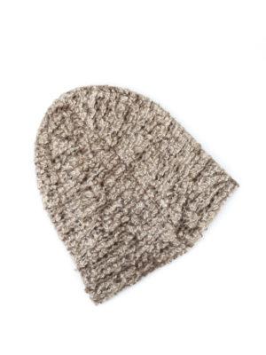 Avant Toi: beanies online - Bouclé knit cashmere silk beanie