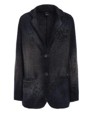Avant Toi: blazers - Chevron cashmere blend blazer