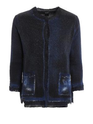 Avant Toi: blazers - Collarless destroyed jacket