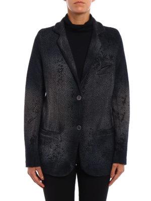 Avant Toi: blazers online - Chevron cashmere blend blazer