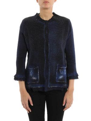 Avant Toi: blazers online - Collarless destroyed jacket