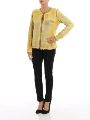 Avant Toi: blazers online - Studded wicker stitch cotton jacket