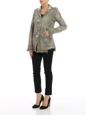 Avant Toi: blazers online - Wicker stitch knitted cotton jacket