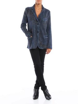 Avant Toi: blazers online - Wicker stitch knitted wool jacket