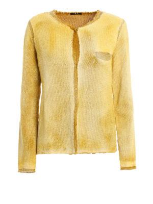 Avant Toi: blazers - Studded wicker stitch cotton jacket
