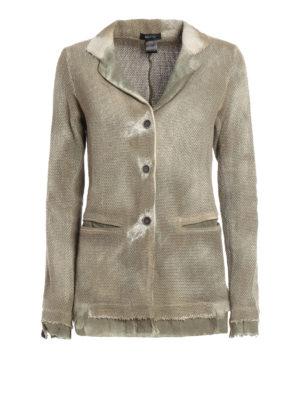 Avant Toi: blazers - Wicker stitch knitted cotton jacket